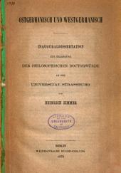 Ostgermanisch und Westgermanisch