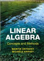 Linear Algebra  Concepts and Methods PDF