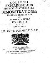 Collegii experimentalis physico-mathematici demonstrationes singulis semestribus in Academia Iulia curiosis B.C.D. exhibendae
