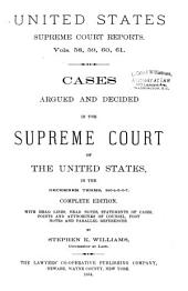 Reports of Cases Argued and Decided in the Supreme Court of the United States: 1-351 U.S; 1790- October term, 1955, Book 15