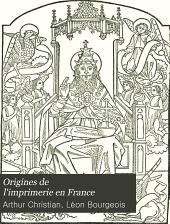 Origines de l'imprimerie en France