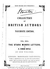 The Stark Munro Letters: Being a Series of Sixteen Letters Written by J. Stark Munro...to His Friend and Former Fellow-student, Herbert Swanborough, of Lowell, Massachusetts, During the Years 1881-1884