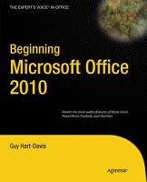 Beginning Microsoft Office 2010 PDF