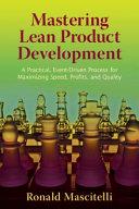 Mastering Lean Product Development PDF