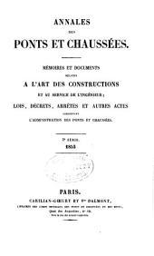 Annales des ponts et chaussees. 2. partie: Partie administrative
