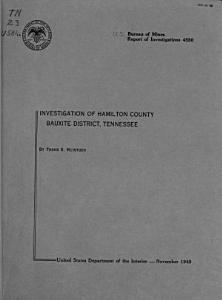 Report of Investigations Book