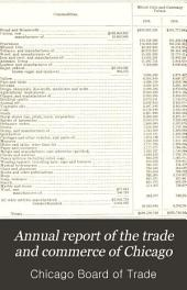 Annual Report of the Trade and Commerce of Chicago: Volume 22