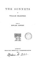 The Sonnets of William Shakspere  ed  by E  Dowden PDF
