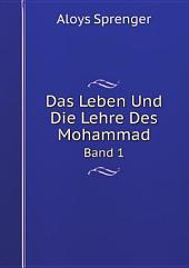 Das Leben Und Die Lehre Des Mohammad: Band 3