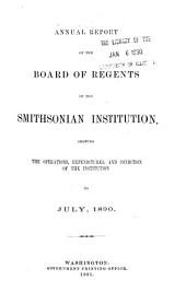 Report of the Executive Committee and Proceedings of the Board of Regents of the Smithsonian Institution ...