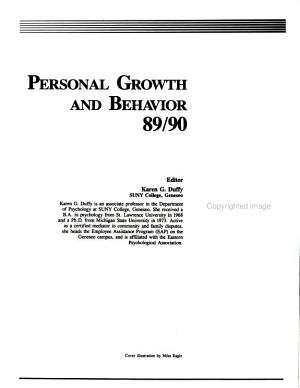 Personal Growth and Behavior