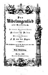 Das Nibelungenlied als Volksbuch: Teil 1