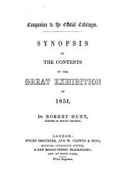 Companion to the official catalogue. Synopsis of the contents of the Great exhibition of 1851