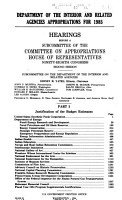 Department of the Interior and related agencies appropriations for 1985 PDF