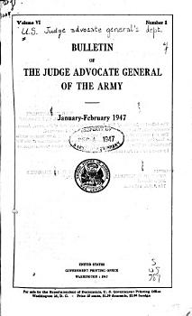 Bulletin of the Judge Advocate General of the Army PDF