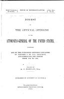 Digest of the Official Opinions of the Attorneys General of the United States PDF
