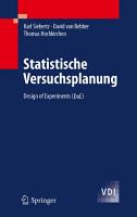 Statistische Versuchsplanung PDF