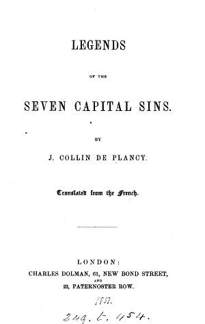 Legends of the seven capital sins  Transl