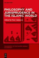 Philosophy and Jurisprudence in the Islamic World PDF
