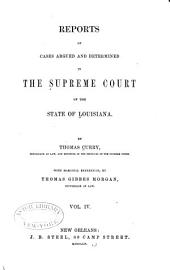 Reports of Cases Argued and Determined in the Supreme Court of Louisiana: Volume 7, Issue 27 - Volume 8, Issue 28