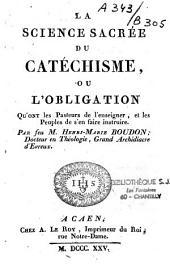 La science sacrée du catéchisme...