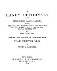 Webster S Handy Dictionary And The People S Manual In Two Parts Book PDF