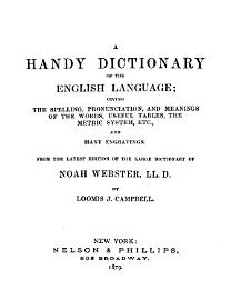 Webster S Handy Dictionary And The People S Manual In Two Parts
