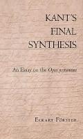 Kant s Final Synthesis PDF
