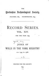 Index of Wills in the York Registry: 1554 to 1568