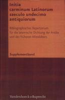 Initia carminum Latinorum saeculo undecimo antiquiorum PDF