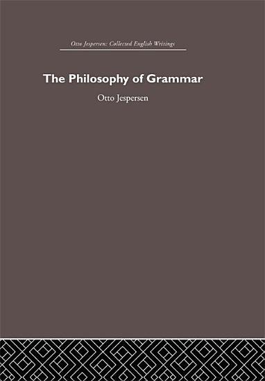 The Philosophy of Grammar PDF
