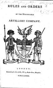 Rules and Orders of the Honourable Artillery Company