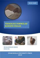 Teknologi Formulasi Ransum Unggas PDF