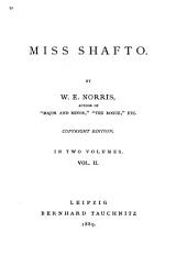 Miss Shafto: Volume 2
