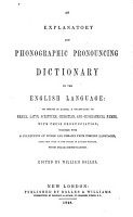 An Explanatory and Phonographic Pronouncing Dictionary of the English Language PDF