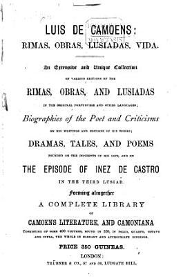 Luis de Camoens: Rimas, obras, Lusiadas, vida0