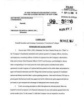 The Hain Celestial Group, Inc.: Securities and Exchange Commission Litigation Complaint