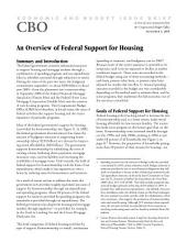 Overview of Federal Support for Housing