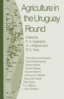Agriculture in the Uruguay Round PDF