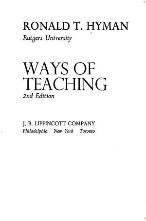 Ways of Teaching PDF