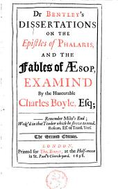 Dissertations on the Epistles of Phalaris and the Fables of Aesop