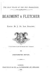 Beaumont & Fletcher: Volume 2