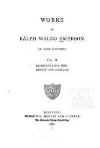 Representative men  Society and solitude PDF
