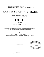 Index of Economic Material in Documents of the States of the United States: Ohio: 1787-1904, Part 1