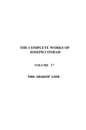 The Shadow Line. A Confession