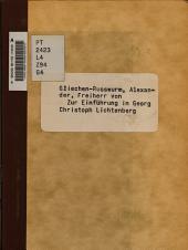 Zur Einführung in Georg Christoph Lichtenburg