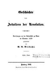 Geschichte des Zeitalters der Revolution: Vorlesungen an der Universität zu Bonn im Sommer 1829, Band 2