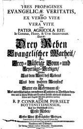 Tres propagines evangelicae veritalis: Das ist: Drey Reben evangelischer Warheit oder drey-jährige Sonn- und Feyertags-Predigen ... Reben oder ...