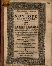 Dispvtatio Ivridica De Novi Operis Nvnciatione