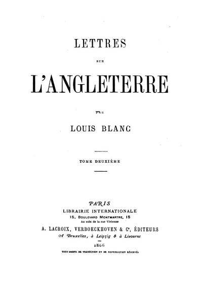 Download Lettres Sur L Angleterre Book